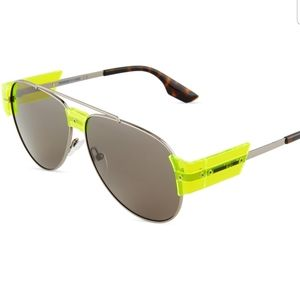 Alexander McQueen McQ Aviator Neon Sunglasses